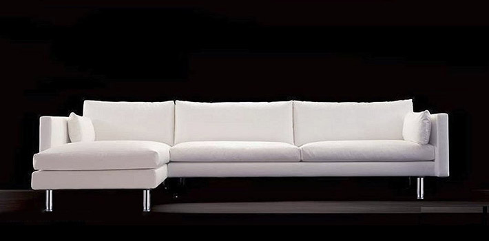 Canap design contemporain cigno for Canape cuir contemporain