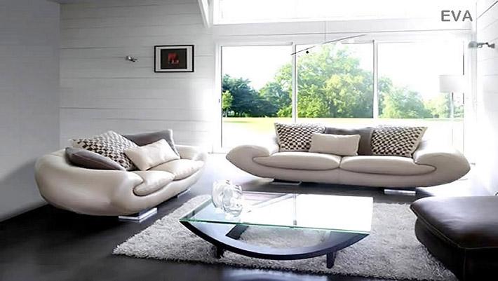 Canap contemporain futuriste eva for Divani da 2 metri