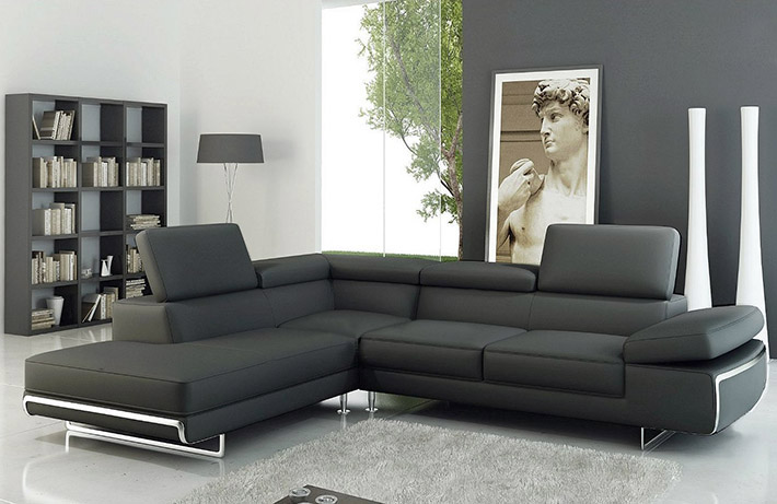 Canape cuir contemporain maison design for Sofa contemporain design